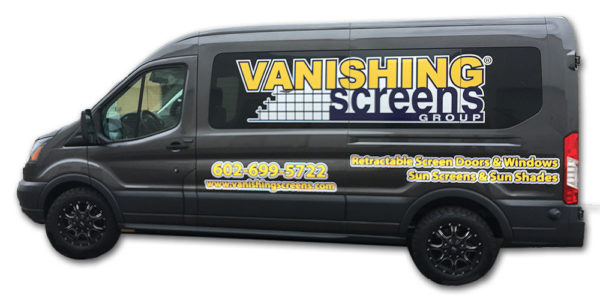Vanishing Screens - retractable window screens and door screens